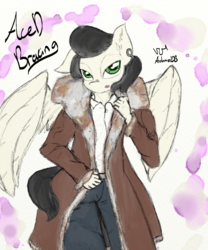 Size: 1000x1200 | Tagged: anthro, artist:achmeddb, male, oc, oc:aced bracing, oc only, pale color, safe, soft color, solo, stallion