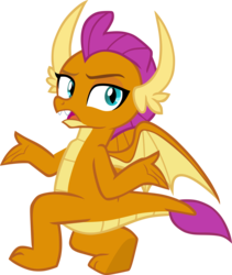 Size: 5004x5935 | Tagged: artist:memnoch, claws, dragon, dragoness, fangs, female, kneeling, raised eyebrow, safe, shrug, smolder, solo, source needed, spread wings, toes, underfoot, vector, what lies beneath, wings