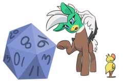 Size: 1445x911 | Tagged: 17, artist:lockhe4rt, behaving like a duck, confused, cute, d20, duck, duck pony, dungeons and dragons, oc, oc:dolan, oc:duk, pathfinder, pegasus, pen and paper rpg, ponyfinder, quack, quak, rpg, safe, simple background, transparent background