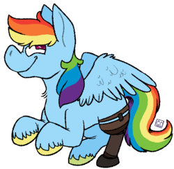 Size: 600x580 | Tagged: amputee, artist:gamecyoob, pony, prosthetic limb, prosthetics, rainbow dash, safe, simple background, solo, transparent background