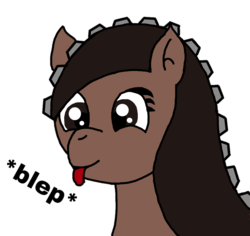 Size: 1012x955 | Tagged: artist:juani236, blep, digital art, earth pony, edit, happy, oc, oc:couchry desim, oc only, pony, re-edit, safe, silly, simple background, solo, tongue out, transparent background, zipper