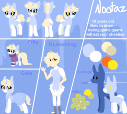 Size: 2440x2180 | Tagged: artist:nootaz, clothes, dress, female, filly, gala dress, human, humanized, oc, oc:nootaz, reference sheet, safe