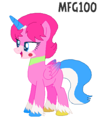 Size: 389x495 | Tagged: alicorn, alicornified, artist:mixelfangirl100, artist:selenaede, base used, g5, lego, ponified, pony, race swap, safe, simple background, the lego movie, transparent background, unikitty