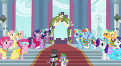 Size: 1211x660 | Tagged: a canterlot wedding, applejack, applejack (male), applejacks (shipping), artist:404compliant, artist:90sigma, artist:drfatalchunk, artist:kayman13, artist:mamandil, artist:psyxofthoros, artist:sapoltop, artist:saveman71, artist:trotsworth, barb, bridesmaid dress, bubble berry, bubblepie, butterscotch, clothes, dashblitz, dress, dusk shine, dusktwi, elusive, female, flutterscotch, fluttershy, male, male six, mane seven, mane six, marriage, pinkie pie, r63 paradox, rainbow blitz, rainbow dash, rarilusive, rarity, rule 63, safe, selfcest, self paradox, self ponidox, shipping, spike, spikebarb, straight, tuxedo, twilight sparkle, wedding, wedding dress