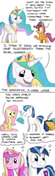 Size: 800x2544 | Tagged: artist:hoofclid, blanket, comic, flash sentry, fluttershy, princess cadance, princess celestia, reporter, safe, scootaloo, shining armor, sleeping