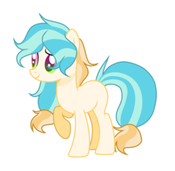 Size: 2430x2382 | Tagged: artist:thesmall-artist, earth pony, female, magical lesbian spawn, mare, oc, oc:rain breeze, offspring, parent:applejack, parent:rainbow blitz, parent:rainbow dash, parents:appleblitz (straight), parents:appledash, pony, safe, simple background, solo, transparent background
