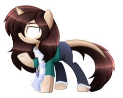 Size: 3037x2425 | Tagged: safe, artist:sugaryicecreammlp, oc, oc:herobrine, pony, unicorn, clothes, female, glowing eyes, mare, scarf, simple background, solo, transparent background