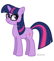 Size: 4000x4500   Tagged: safe, artist:winter-scarf, sci-twi, twilight sparkle, pony, unicorn, equestria girls, equestria girls series, spring breakdown, spoiler:eqg series (season 2), cutie mark, equestria girls ponified, female, glasses, mare, ponified, simple background, solo, standing, transparent background, unicorn sci-twi, vector