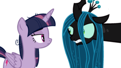 Size: 1024x576 | Tagged: alicorn, annoyed, artist:serviner-tama, changeling, changeling queen, clone, evil twilight, female, frown, looking at each other, mare, mean twilight sparkle, pony, queen chrysalis, safe, simple background, the mean 6, transparent background, twilight sparkle, twilight sparkle (alicorn), vector