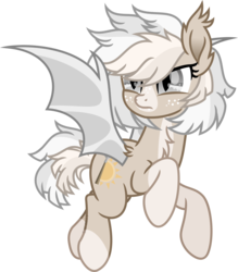 Size: 6511x7449 | Tagged: absurd res, artist:suramii, bat pony, bat pony oc, female, freckles, oc, oc:cuddy, safe, simple background, socks (coat marking), solo, transparent background, vector