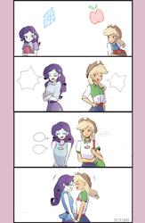Size: 1300x2000 | Tagged: applejack, artist:tcn1205, cute, daaaaaaaaaaaw, equestria girls, equestria girls series, female, jackabetes, legend of everfree, lesbian, progression, raribetes, rarijack, rarity, rollercoaster of friendship, safe, shipping