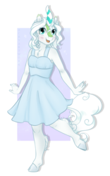 Size: 1600x2560 | Tagged: anthro, anthro oc, artist:acry-artwork, blushing, clothes, cloven hooves, cute, dress, female, furry, happy, kirin, kirin oc, mare, oc, oc only, oc:sweet spring, safe, solo, sundress, unguligrade anthro