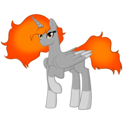 Size: 1000x1000 | Tagged: alicorn, alicorn oc, artist:sevenserenity, commission, fire, oc, pony, safe, simple background, socks (coat marking), solo, transparent background