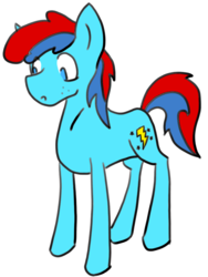 Size: 806x1070 | Tagged: artist:golden ray, earth pony, male, oc, oc:shimmer bolt, pony, safe, simple background, solo, stallion, standing, transparent background