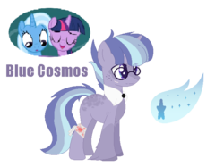 Size: 701x525 | Tagged: artist:vixenfin, female, lesbian, magical lesbian spawn, oc, offspring, parents:twixie, parent:trixie, parent:twilight sparkle, pony, safe, shipping, trixie, twilight sparkle, twixie