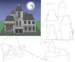 Size: 9600x7904 | Tagged: artist:mr100dragon100, gothic, house, mare in the moon, moon, safe