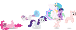 Size: 3282x1308 | Tagged: alicorn, amused, artist:badumsquish, artist:chrzanek97, artist:deadparrot22, artist:felix-kot, artist:lman225, artist:reginault, artist:slb94, bald, blushing, celestia is amused, celestia's crown, chase, clothes, costume, cutie mark, earth pony, edit, editor:slayerbvc, exhibitionism, female, filly, floppy ears, furless, furless edit, grin, hoof shoes, jewelry, looking back, magic, mare, nervous, nervous grin, no shame, nude edit, nudity, peytral, pinkie pie, pinkie pie suit, pony, pony costume, princess celestia, pronking, public nudity, rarity, rarity is not amused, regalia, safe, shaved, shaved tail, sheepish grin, simple background, sisters, smiling, streaking, sweetie bald, sweetie belle, sweetie belle suit, tail between legs, the cmc's cutie marks, transparent background, twilight sparkle, twilight sparkle (alicorn), unamused, unicorn, vector, vector edit, wide eyes