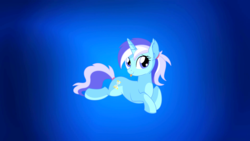Size: 1920x1080 | Tagged: safe, edit, minuette, pony, gradient, gradient background, ponytail, solo, tongue out, wallpaper