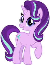 Size: 4093x5247 | Tagged: alternate version, artist:andoanimalia, eyelashes, female, looking at you, pony, raised hoof, safe, solo, starlight glimmer, unicorn, vector