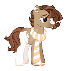 Size: 1280x1341 | Tagged: artist:dianamur, clothes, deviantart watermark, earth pony, male, obtrusive watermark, oc, safe, scarf, simple background, solo, stallion, transparent background, watermark