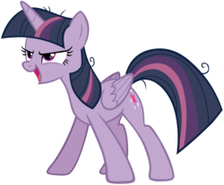 Size: 7043x5838 | Tagged: absurd res, alicorn, artist:andoanimalia, clone, female, mare, mean twilight sparkle, open mouth, pony, safe, simple background, solo, stance, the mean 6, transparent background, vector