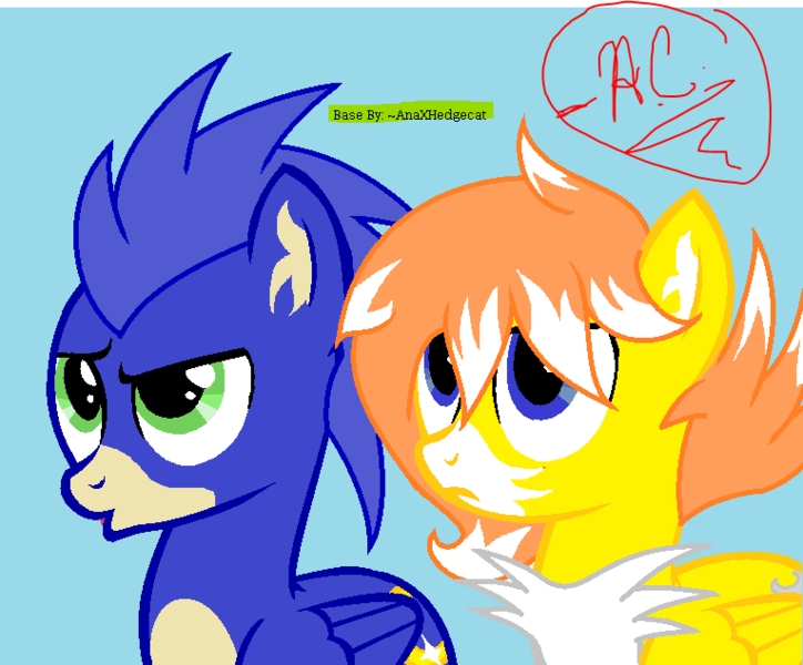 1994924 Artist Artistiacons Artist Galaxyacero Base Used Miles Tails Prower Ms Paint Ponified Pony Safe Sonic The Hedgehog Sonic The Hedgehog Series Derpibooru