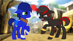 Size: 1607x904 | Tagged: artist:toy-foxy1, ponified, pony, safe, shadow the hedgehog, sonic boom, sonic the hedgehog, sonic the hedgehog (series), story included