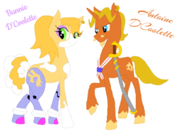 Size: 1024x759 | Tagged: antoine d'coolette, artist:spqr21, bunnie rabbot, deviantart muro, ponified, pony, safe, sonic the hedgehog (series)