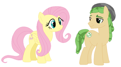 Size: 796x444 | Tagged: artist:cheerful9, equestria girls ponified, fluttershy, ponified, pony, safe, sandalshy, sandalwood, shipping, straight