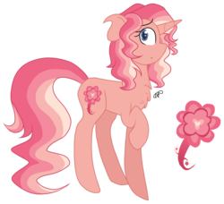Size: 1666x1522 | Tagged: safe, artist:thepegasisterpony, oc, oc:žemyna, pony, unicorn, cute, female, magical lesbian spawn, offspring, parent:fluttershy, parent:sunset shimmer, parents:sunshyne, solo