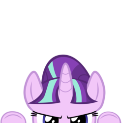 Size: 10000x10000 | Tagged: safe, artist:mrkat7214, starlight glimmer, pony, unicorn, absurd resolution, cute, evil, frown, glimmerbetes, part of a set, peekaboo, peeking, s5 starlight, simple background, solo, soon, this will end in communism, transparent background, vector