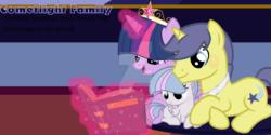 Size: 1280x640 | Tagged: safe, artist:star-gaze-pony, comet tail, twilight sparkle, oc, oc:ursa, alicorn, pegasus, pony, base used, cometlight, family, female, filly, male, offspring, parent:comet tail, parent:twilight sparkle, parents:cometlight, shipping, straight, twilight sparkle (alicorn)