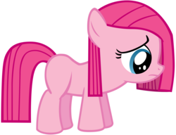 Size: 4550x3500 | Tagged: safe, artist:atomicgreymon, pinkie pie, earth pony, pony, the cutie mark chronicles, female, filly, filly pinkie pie, frown, pinkamena diane pie, sad, simple background, solo, transparent background, younger