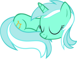 Size: 1104x846 | Tagged: artist:uigsyvigvusy, artist:zacatron94, behaving like a cat, curled up, cute, eyes closed, female, lyrabetes, lyra heartstrings, mare, pony, safe, simple background, sleeping, solo, trace, transparent background, unicorn, vector
