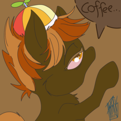 Size: 1000x1000 | Tagged: artist:phthisis, bed mane, button mash, earth pony, foal, male, pony, red eye, safe, solo, tired