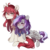 Size: 960x960 | Tagged: safe, artist:silvah-chan, oc, oc only, oc:sketchy howl, pegasus, pony, unicorn, female, grell sutcliff, mare, ponified, simple background, transparent background