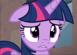 Size: 1324x941 | Tagged: alicorn, close-up, cropped, floppy ears, safe, screencap, solo, the cutie re-mark, twilight sparkle, twilight sparkle (alicorn)