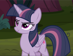 Size: 1217x940 | Tagged: alicorn, clone, cropped, female, mare, mean twilight sparkle, pony, safe, screencap, smiling, smirk, solo, the mean 6