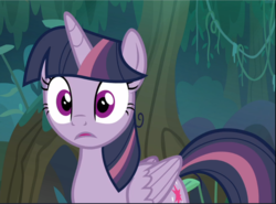 Size: 1275x942 | Tagged: alicorn, clone, cropped, female, mare, mean twilight sparkle, open mouth, pony, safe, screencap, solo, surprised, the mean 6, wide eyes
