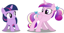 Size: 1241x644 | Tagged: a canterlot wedding, and do a little shake, artist:awesomeluna, butt shake, clap your hooves, do a little shake, female, filly, filly twilight sparkle, ladybugs-awake, mare, plot, pony, princess cadance, safe, simple background, sunshine sunshine, teen princess cadance, transparent background, twilight sparkle, unicorn, unicorn twilight, vector, younger