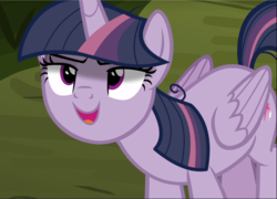 Size: 1306x940 | Tagged: alicorn, clone, cropped, >:d, evil grin, kubrick stare, looking up, mean twilight sparkle, open mouth, safe, screencap, sinister, smiling, solo, the mean 6