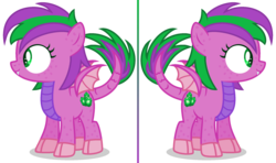 Size: 2248x1332 | Tagged: alternate universe, artist:razorbladetheunicron, base used, cutie mark, dracony, female, filly, hybrid, lateverse, markings, new design, next generation, oc, oc:firestorm swirl, oc only, offspring, parent:amethyst star, parents:amespike, parent:spike, reference, safe, scales, simple background, transparent background