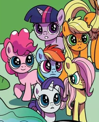 Size: 356x440 | Tagged: applejack, artist:pencils, cute, dashabetes, diapinkes, female, filly, filly applejack, filly fluttershy, filly pinkie pie, filly rainbow dash, filly rarity, filly twilight sparkle, fluttershy, idw, jackabetes, mane six, pinkie pie, rainbow dash, raribetes, rarity, safe, shyabetes, spoiler:comic, spoiler:comicidw2020, twiabetes, twilight sparkle, younger