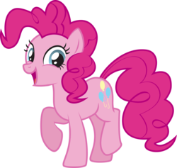 Size: 2335x2217 | Tagged: safe, artist:lightning stripe, derpibooru exclusive, pinkie pie, earth pony, pony, blue eyes, cute, cutie mark, diapinkes, eyelashes, female, mare, open mouth, pink coat, pink mane, pink tail, show accurate, simple background, smiling, solo, transparent background