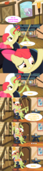 Size: 1065x4138   Tagged: safe, edited screencap, screencap, apple bloom, cheerilee, granny smith, caption, comedy, comic, diddly, funny, glasses, homer simpson, image macro, ned flanders, reference, rope, screencap comic, simpsons did it, sleeping, sweet apple acres, text, the simpsons, treehouse of horror