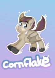 Size: 4960x7015 | Tagged: safe, artist:almond evergrow, oc, oc:bat wings, oc:cornflake, bat pony, pony, bat pony oc, solo