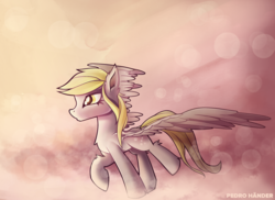 Size: 2338x1700 | Tagged: abstract background, artist:pedrohander, derpy hooves, pegasus, safe, solo, wings