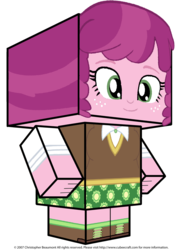 Size: 1796x2494 | Tagged: artist:grapefruitface1, cheerilee, clothes, craft, cubeecraft, equestria girls, freckles, papercraft, safe, simple background, solo