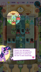 Size: 720x1280 | Tagged: alicorn, changeling, game screencap, parasprite, pocket ponies, safe, twilight sparkle, twilight sparkle (alicorn), windigo