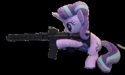 Size: 5032x3024 | Tagged: safe, artist:nekokevin, artist:yaop, starlight glimmer, pony, unicorn, series:nekokevin's glimmy, aero precision, ar15, gun, irl, photo, plushie, rifle, simple background, snipelight glimmer, solo, transparent background, weapon